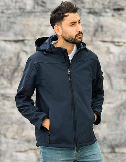 HRM Men´s Hooded Soft-Shell Jacket
