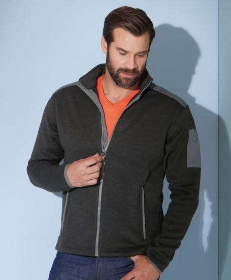 james & nicholson herren jacke jacke knitted fleece jacket