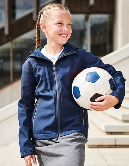 Regatta Kids Octagon 3-layer Hooded Softshell Jacket
