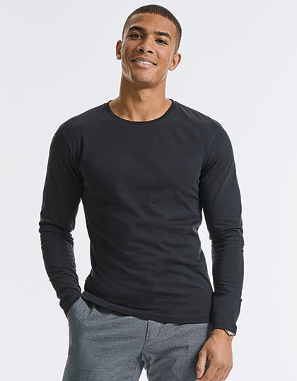 Russell Men`s Pure Organic Long Sleeve Tee