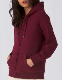 B&C Queen Zipped Hood Jacket Women