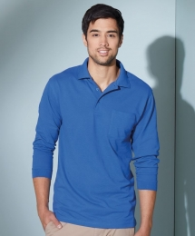James & Nicholson Polo Piqué Long-Sleeved