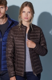 James & Nicholson Ladies Quilted Down Jacket