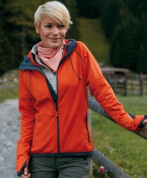 James & Nicholson Ladies Hooded Fleece