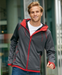 James & Nicholson Men's Hooded Fleece