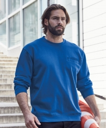 James & Nicholson Men's Round Sweat Pocket