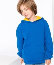 Kariban Kinder Kontrast Hooded Sweater