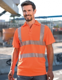 Korntex Hi-Viz Broken Reflective Polo Shirt EN ISO 20471