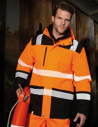 Result Printable Waterproof Safety Coat
