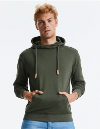 Russell Pure Organic High Collor Hooded Sweat