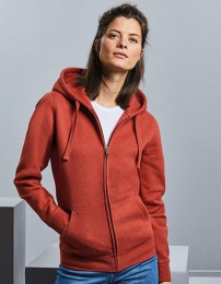 Russell Ladies` Authentic Melange Zipped Hood Sweat