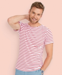 SOL'S Men`s Round Neck Striped T-Shirt Miles