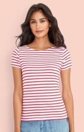 SOL'S Women`s Round Neck Striped T-Shirt Miles