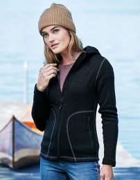 TEE JAYS Ladies` Outdoor Hooded Fleece Jacket