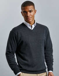 Russell Men`s V-Neck Knitted Pullover