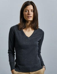 Russell Ladies V-Neck Knitted Jumper